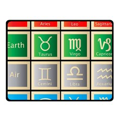 Set Of The Twelve Signs Of The Zodiac Astrology Birth Symbols Fleece Blanket (small) by Amaryn4rt