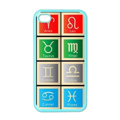 Set Of The Twelve Signs Of The Zodiac Astrology Birth Symbols Apple Iphone 4 Case (color) by Amaryn4rt