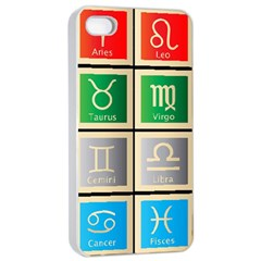 Set Of The Twelve Signs Of The Zodiac Astrology Birth Symbols Apple Iphone 4/4s Seamless Case (white) by Amaryn4rt