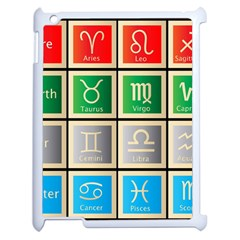 Set Of The Twelve Signs Of The Zodiac Astrology Birth Symbols Apple Ipad 2 Case (white) by Amaryn4rt