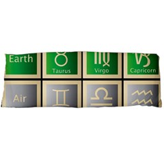 Set Of The Twelve Signs Of The Zodiac Astrology Birth Symbols Body Pillow Case Dakimakura (two Sides)