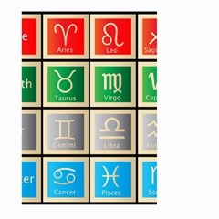 Set Of The Twelve Signs Of The Zodiac Astrology Birth Symbols Large Garden Flag (two Sides) by Amaryn4rt