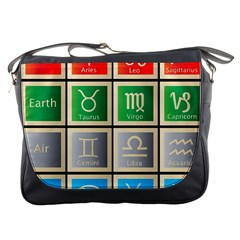 Set Of The Twelve Signs Of The Zodiac Astrology Birth Symbols Messenger Bags by Amaryn4rt
