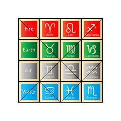 Set Of The Twelve Signs Of The Zodiac Astrology Birth Symbols Acrylic Tangram Puzzle (4  X 4 ) by Amaryn4rt