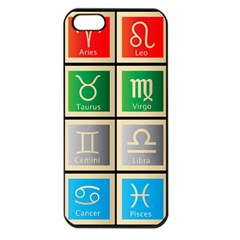 Set Of The Twelve Signs Of The Zodiac Astrology Birth Symbols Apple Iphone 5 Seamless Case (black) by Amaryn4rt