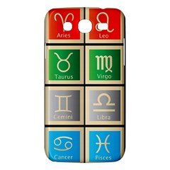 Set Of The Twelve Signs Of The Zodiac Astrology Birth Symbols Samsung Galaxy Mega 5 8 I9152 Hardshell Case  by Amaryn4rt