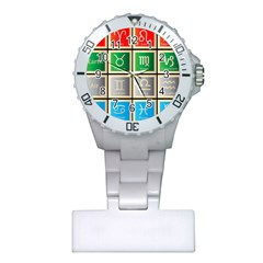 Set Of The Twelve Signs Of The Zodiac Astrology Birth Symbols Plastic Nurses Watch by Amaryn4rt