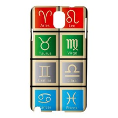 Set Of The Twelve Signs Of The Zodiac Astrology Birth Symbols Samsung Galaxy Note 3 N9005 Hardshell Case by Amaryn4rt