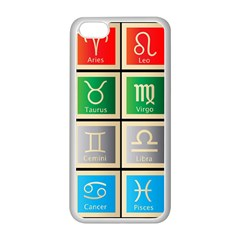 Set Of The Twelve Signs Of The Zodiac Astrology Birth Symbols Apple Iphone 5c Seamless Case (white) by Amaryn4rt
