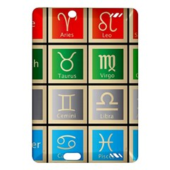 Set Of The Twelve Signs Of The Zodiac Astrology Birth Symbols Amazon Kindle Fire Hd (2013) Hardshell Case by Amaryn4rt