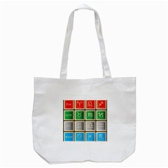 Set Of The Twelve Signs Of The Zodiac Astrology Birth Symbols Tote Bag (white) by Amaryn4rt