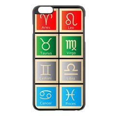 Set Of The Twelve Signs Of The Zodiac Astrology Birth Symbols Apple Iphone 6 Plus/6s Plus Black Enamel Case by Amaryn4rt