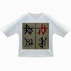 Xia Script On Gray Background Infant/toddler T Shirts by Amaryn4rt