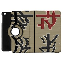 Xia Script On Gray Background Apple Ipad Mini Flip 360 Case by Amaryn4rt