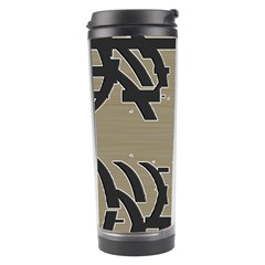Xia Script On Gray Background Travel Tumbler by Amaryn4rt
