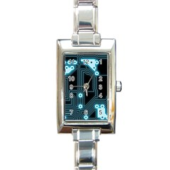 A Completely Seamless Background Design Circuitry Rectangle Italian Charm Watch by Amaryn4rt