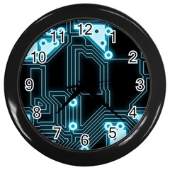 A Completely Seamless Background Design Circuitry Wall Clocks (black) by Amaryn4rt
