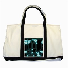 A Completely Seamless Background Design Circuitry Two Tone Tote Bag by Amaryn4rt