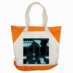 A Completely Seamless Background Design Circuitry Accent Tote Bag by Amaryn4rt