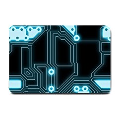 A Completely Seamless Background Design Circuitry Small Doormat  by Amaryn4rt