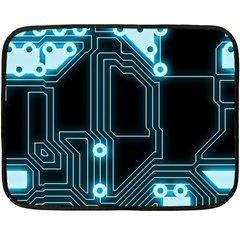 A Completely Seamless Background Design Circuitry Double Sided Fleece Blanket (mini)  by Amaryn4rt
