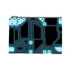 A Completely Seamless Background Design Circuitry Cosmetic Bag (large)  by Amaryn4rt