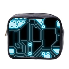 A Completely Seamless Background Design Circuitry Mini Toiletries Bag 2 Side by Amaryn4rt