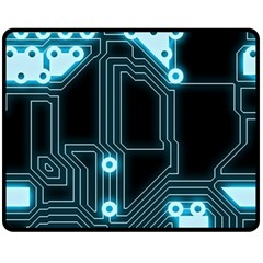 A Completely Seamless Background Design Circuitry Fleece Blanket (medium)  by Amaryn4rt