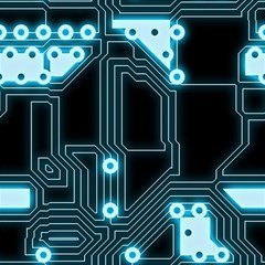 A Completely Seamless Background Design Circuitry Magic Photo Cubes by Amaryn4rt