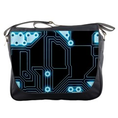 A Completely Seamless Background Design Circuitry Messenger Bags by Amaryn4rt