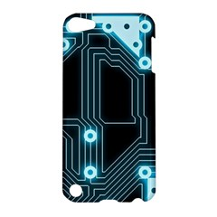A Completely Seamless Background Design Circuitry Apple Ipod Touch 5 Hardshell Case by Amaryn4rt