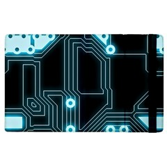 A Completely Seamless Background Design Circuitry Apple Ipad 3/4 Flip Case by Amaryn4rt