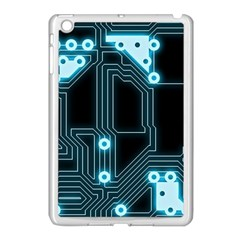 A Completely Seamless Background Design Circuitry Apple Ipad Mini Case (white) by Amaryn4rt