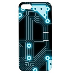 A Completely Seamless Background Design Circuitry Apple Iphone 5 Hardshell Case With Stand by Amaryn4rt