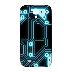 A Completely Seamless Background Design Circuitry Samsung Galaxy S4 I9500/i9505  Hardshell Back Case by Amaryn4rt