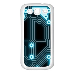 A Completely Seamless Background Design Circuitry Samsung Galaxy S3 Back Case (white) by Amaryn4rt