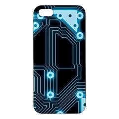 A Completely Seamless Background Design Circuitry Iphone 5s/ Se Premium Hardshell Case by Amaryn4rt