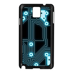 A Completely Seamless Background Design Circuitry Samsung Galaxy Note 3 N9005 Case (black) by Amaryn4rt