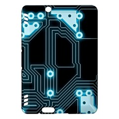 A Completely Seamless Background Design Circuitry Kindle Fire Hdx Hardshell Case by Amaryn4rt