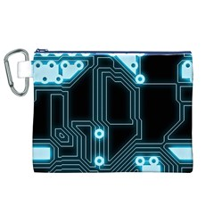 A Completely Seamless Background Design Circuitry Canvas Cosmetic Bag (xl) by Amaryn4rt