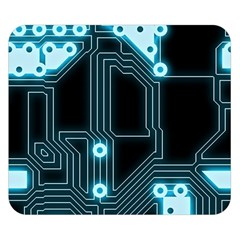 A Completely Seamless Background Design Circuitry Double Sided Flano Blanket (small)  by Amaryn4rt