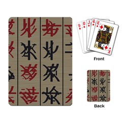 Ancient Chinese Secrets Characters Playing Card by Amaryn4rt