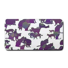 Many Cats Silhouettes Texture Medium Bar Mats by Amaryn4rt
