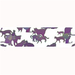Many Cats Silhouettes Texture Large Bar Mats by Amaryn4rt