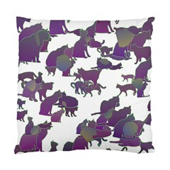 Many Cats Silhouettes Texture Standard Cushion Case (two Sides) by Amaryn4rt