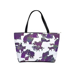 Many Cats Silhouettes Texture Shoulder Handbags by Amaryn4rt