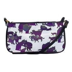 Many Cats Silhouettes Texture Shoulder Clutch Bags by Amaryn4rt