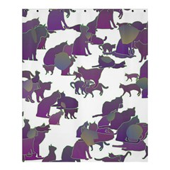 Many Cats Silhouettes Texture Shower Curtain 60  X 72  (medium)  by Amaryn4rt