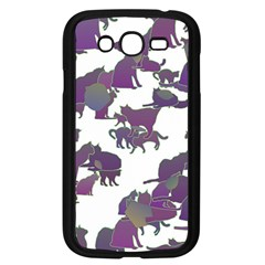 Many Cats Silhouettes Texture Samsung Galaxy Grand Duos I9082 Case (black) by Amaryn4rt