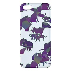 Many Cats Silhouettes Texture Iphone 5s/ Se Premium Hardshell Case by Amaryn4rt